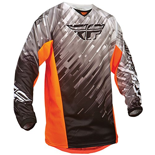Mann Aus Den Bergen, Tee (Fly 2015 Motocross / MTB Jersey - Kinetic Glitch - schwarz-weiß-orange: Größe Jersey: L)
