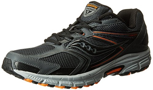 Saucony Men's Cohesion TR9 Running Shoe, Grey/Black/Orange, 10 M US Grey / Black / Orange