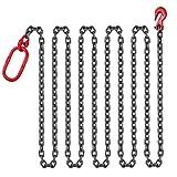 Succebuy Chaîne Sling 10mmX3m Chaîne Avec Crochets 13.5T Chaîne pour Palan Lifting...