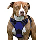No Pull Dog Harness X-Large Blue, Front Clip Vest Harness Dog Car Harnesses