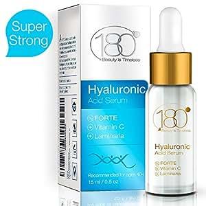 Sérum à l'acide hyaluronique -180 Cosmetics Pure Swiss Hyaluronic Acid Serum FORTE + Vitamin C (produit Ultima)