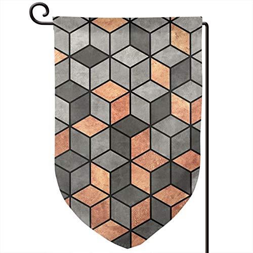 Lilyo-ltd Garten-Flagge, aus Beton und Kupfer, 31,8 x 45,7 cm, doppelseitig, Polyester