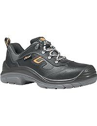 Zapato de seguridad en ISO 20345S3RS SRC Reptile/Zip Talla 46piel de vacuno Negro