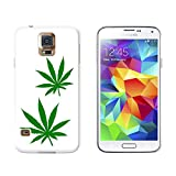 Marijuana Leaf Blätter–Topf Weed Snap-on Hartschalen-Schutzhülle für Samsung Galaxy S5, Weiß