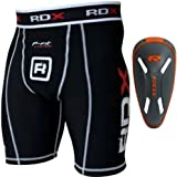 RDX MMA Thermal Compression Shorts Base Layer Groin Cup Boxing Training Guard Fitness Running Exercise