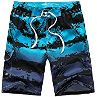 QinMM Hommes Shorts de Bain Boxer Designer Bermuda Doublure Maille a1829e65738