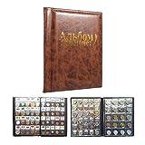 Raccoglitore Per Collezione Di Monete Valuta Di Libri Album Monete, 10 Pagine, 250 Tasche, Lingua Russa ( Colore : Marrone )