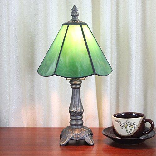 Tiffany-stil-bar (HDO 6 Zoll Grün Simple Style Pastoral Minimalist Tiffany Stil Tischlampe Nachttisch Lampe Schreibtisch Lampe Wohnzimmer Bar Lampe)