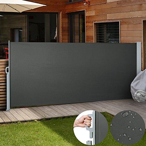 Jago Seitenmarkise Sonnenschutz Sichtschutz Windschutz - diverse Farben und Größen (anthrazit/160x300cm/SMKS01-160AT)