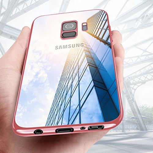 KKtick Custodia Samsung Galaxy S9, Galaxy S9 Caso Ultra Sottile Anti-Graffio Cover TPU Silicone Bumper Case Shock-Absorption Case Cover per Samsung Galaxy S9 - Rosa