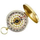 Tonor tragbar Klassisch Camping Wandern Taschenuhr Stil Taschenkompass Bronzing Kompass Outdoor Navigation Werkzeug Gold