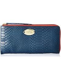 Hidesign Women's Wallet (M Blue Lob Zip)