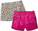 lupilu® 2 Kinder Mädchen Shorts (Pink/Leo-Print, Gr. 86/92 - ca. 12-24 Monate)