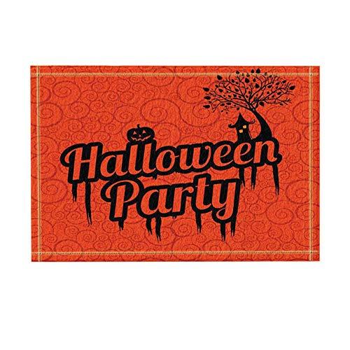 JoneAJ Kreatives Dekor Halloween-Party Feiern Sie Festival-Badteppiche Badezimmer Rutschfeste Bodeneingänge im Freien die Türmatte Kinder Badmatte Kinder 40x60cm Orange