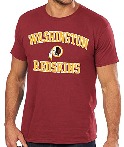 Washington Redskins Majestic NFL Heart & Soul III Men's Red T-Shirt Camicia