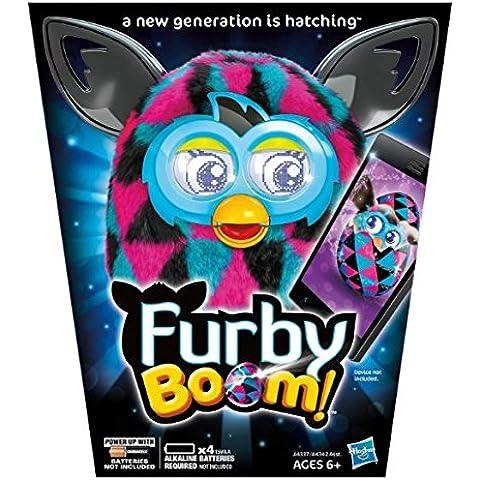 Furby Boom Sunny Triángulos de color rosa con negro rosa azul electrónico Talking mascota en portugués por fonógrafo