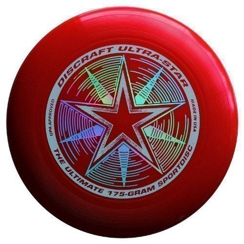 "Discraft Ultra-Star 175g Ultimate Frisbee \""Starburst\"" - rot"
