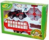 TIM/Siku Bauernhofset MF-Traktor, Ladewagen 1:32
