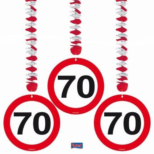 Folat Geburtstag Party Verkehrsschild 7,6cm Dekoration zum Aufhängen–70.
