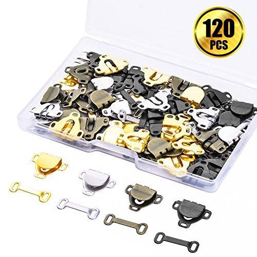 WXJ13 60 Paar 11 # (1,3 cm) Rock Haken und Augen Nähen Haken & Eye Verschlüsse für Hose Rock Kleid BH Nähen DIY Craft