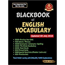 New Blackbook of English Vocabulary (SSC Vocabulary) By NIKHIL GUPTA (paperback)2019