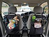 Ecom Start Auto-Rücksitz-Organizer mit 25,4 cm (10 Zoll) Touch-Screen-Halterung für Kinder, Mehrzweck-Einsatz als Autositz-Schutz, Kick-Matte, Auto-Organizer
