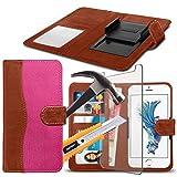 (Pink 154,3 x 76,5 mm) Tasche Hülle für BLU Vivo 8