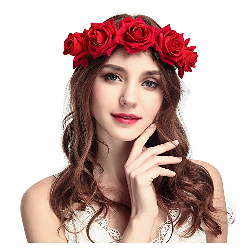 Accessories Girls' Baby Clothing Precise Kids Rose Flower Garland Crown Headband Headwear Bridal Hair Band Black Red Classical Color