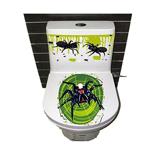 Halloween Toiletten Aufkleber, QinMM Blut-Handtoiletten Abdeckungs Partei Zupfen Zombie Aufkleber (E)