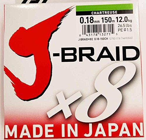 Daiwa–jbraid 8Braid 150, Farbe Grün, Größe 0.180mm