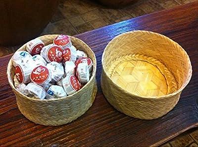 Pu erh mini gâteaux de thé fermenté Tuocha, le plus haut total 270 grammes dans l'emballage de boîte en bambou