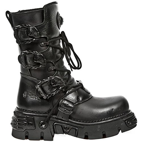 New Rock Womens Oxido M 391 Gothic Leather Boots Schwarz