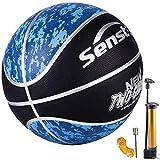 senston Adulto Pelota de Baloncesto Outdoor Balón de Baloncesto para Adultos Tamaño 7,Incluye 1 Bolsa de Malla/1 inflador/2 Agujas de Gas