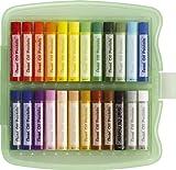 Pentel Boite de 24 Pastels à l'huile 10 mm Couleurs assorties Idéal scolaire