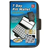 7 Days Pill Organiser Pill Box 28 Compartment Pill Box With Pill Wallet by supersalestore