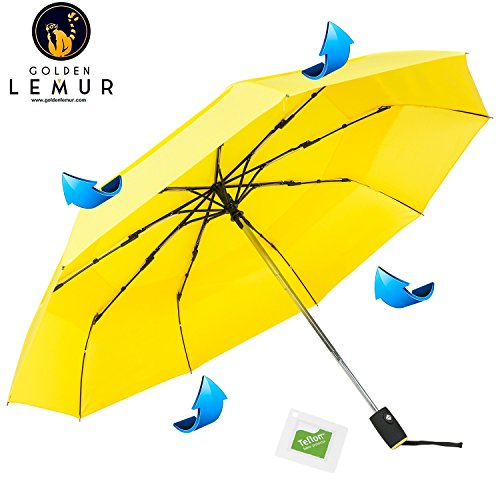 Paraguas Plegables Automático Antiviento. Paraguas Originales de Colores Mujer Hombre Ligero Resistente y Compacto. Tela Reforzada de DOBLE CAPA T210 con TEFLON. Varillas de Carbono. Garantía Calidad.