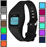 DelTex® Silicone Band / Strap With Secure Adjustable Buckle Fastener For Fitbit Zip Activity Tracker Wristband Bracelet