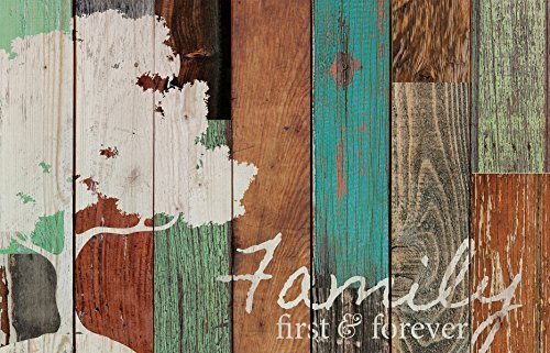 Family First & Forever Multicolor Baum rustikal 16x 24Holz Palette Design Art Wand Schild (Weihnachten Primitive Dekor)