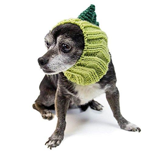 Zoo Kapuzenschal der Original Knit Dinosaurier Hund Snood, klein (T Rex Hund Kostüme)