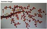 Luxbon 150 Stück künstliche Herbst Ahornblätter Ahorn Laub Herbstlaub Blätter für Unterlage Wandbild Türschild Party Hochzeit Weihnachten Deko - 5