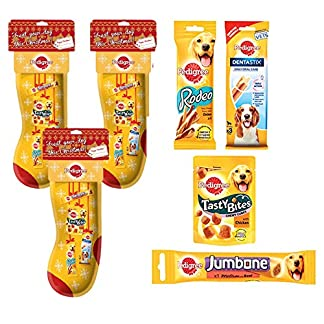 pedigree christmas stocking with treats x3 for multi dog households Pedigree Christmas Stocking with Treats x3 For Multi Dog Households 518 2B3S7wQCL
