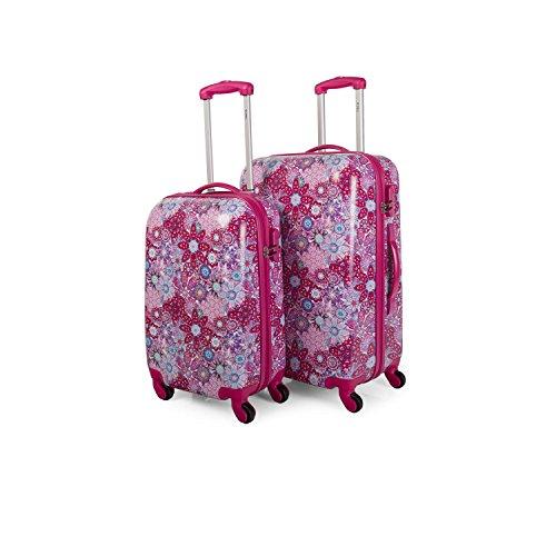 ITACA - Juego de maletas 55 / 66 cm - Fucsia