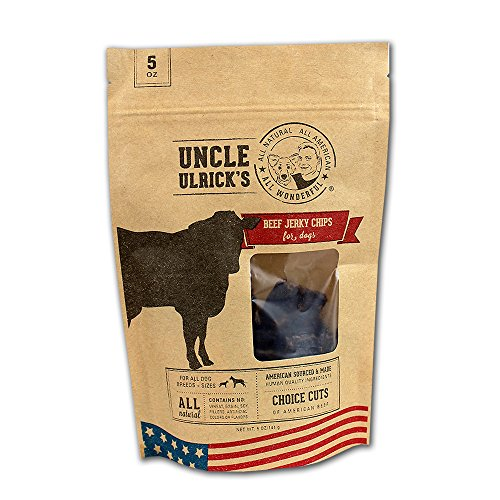Uncle Ulrick's All Natural and All American Beef Jerky Chips for Dogs, 5 oz by Uncle Ulrick's -