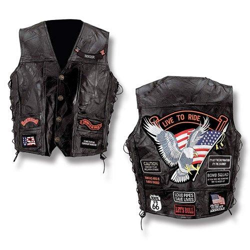buffalo-leather-veste-gilet-homme-biker-usa-patch-riders-cuir-noir-taille-xl-gfvbik14xl