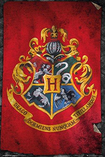 Standard-möbel-poster (Harry Potter Hogwarts Flag Poster Standard)