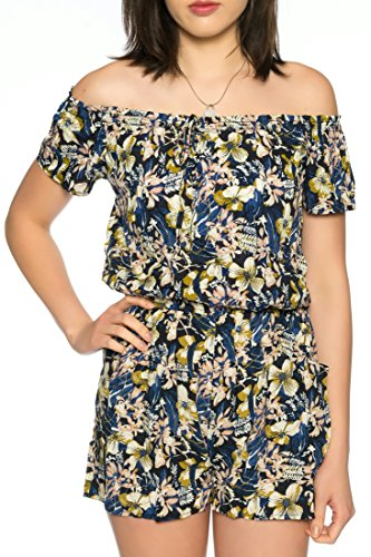 newest collection b9e66 f8954 Dress Sheek Damen Jumpsuit Playsuit Sommer Luftig Gemustert ...