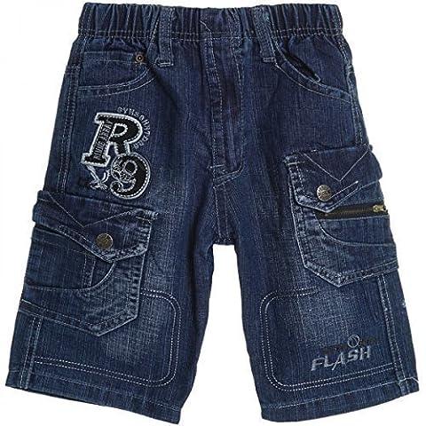 Jungen Kinder Cargo Kurze Hose Bermuda Shorts Capri Vintage Sport Strech 20471, Farbe:Blau;Größe:104 (98-104 Herstellgeröße) - Army Surplus Camouflage