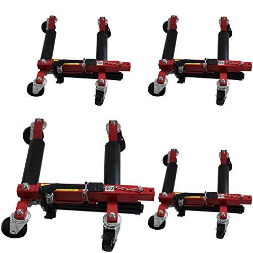 Baumarktplus Wagenheber Rangierheber Rangierhilfe PKW Auto Rangierwagenheber Rangierroller TrutzHolm® (4 Stück)
