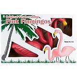 Union Tropix Set Of 2 Plastic Lawn Flamingos No Sz Pink