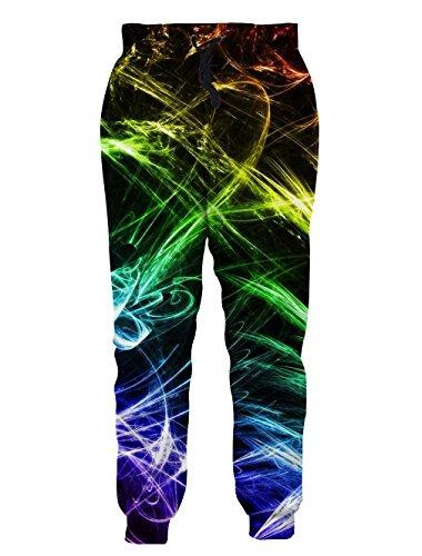 NEWISTAR Unisex 3D bedruckte beiläufige graphische Sweatpants Plus Size